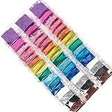 Horizon Group USA Assorted Glitter Packs , Pack of 48, Neon, Glitter, Metallic Colors