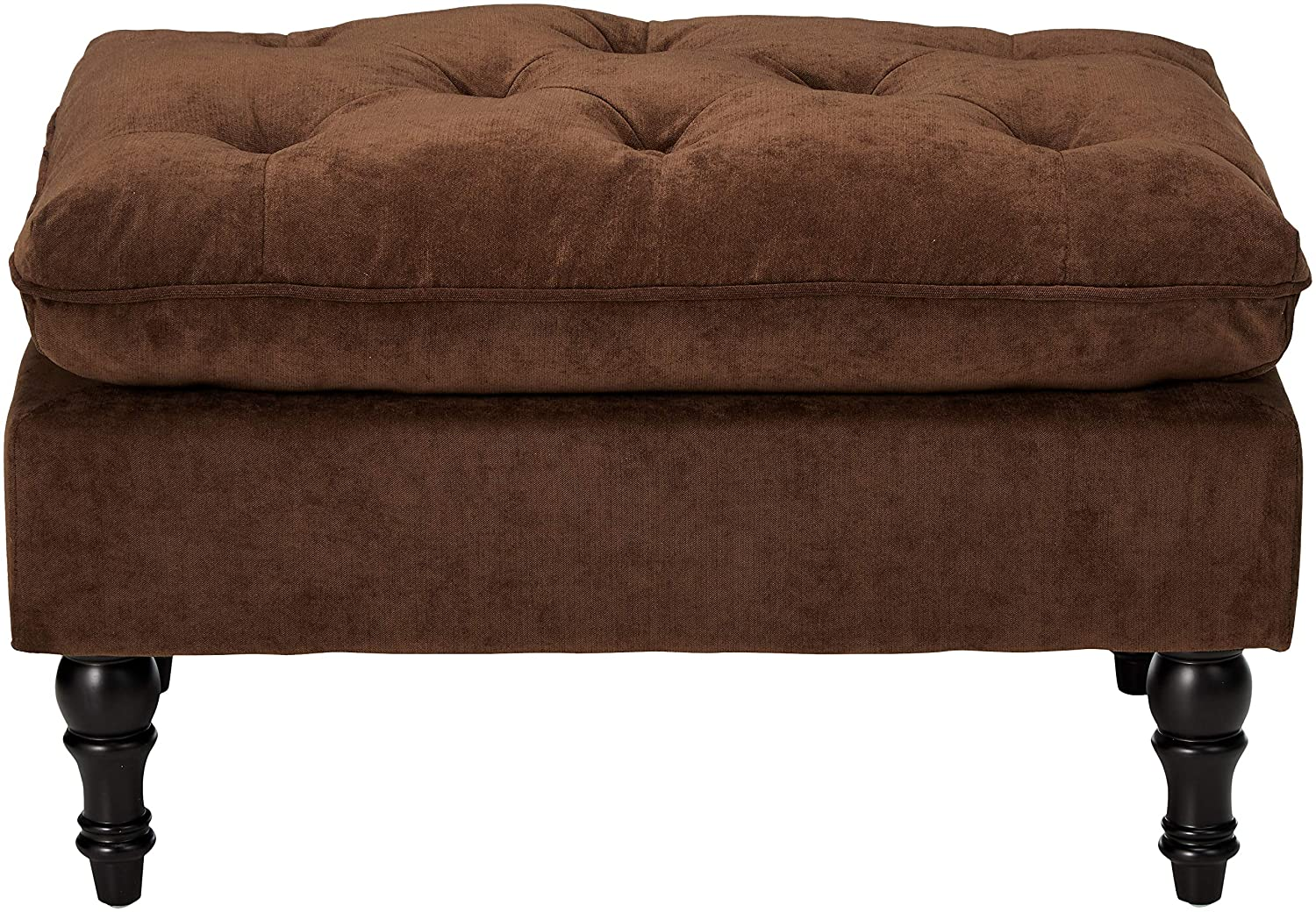 Christopher Knight Home 216608 Living Cordoba Chocolate Brown Tufted Ottoman,