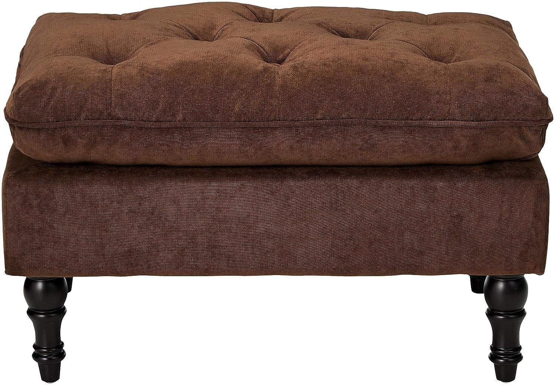 Christopher Knight Home 216608 Living Cordoba Chocolate Brown Tufted Ottoman,