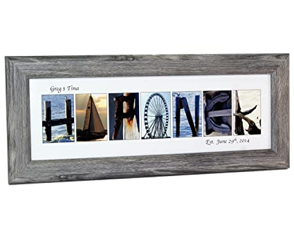 Amazon.com: Creative Letter Art   Personalized Framed Name Sign