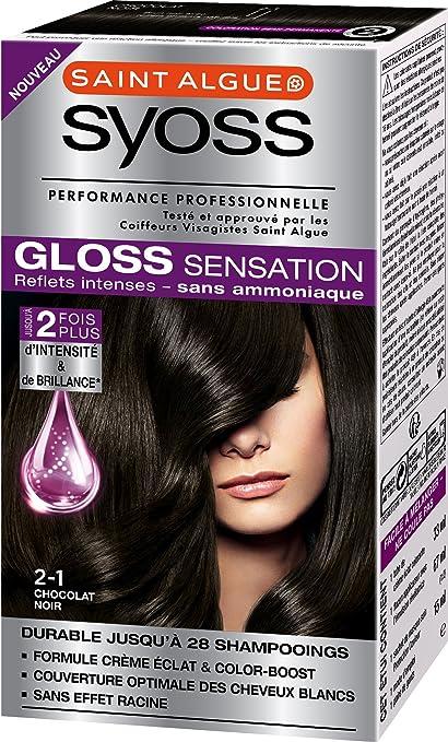 Tinte permanente Syoss Gloss Sensation, 2.1 Chocolate negro, 67 ml