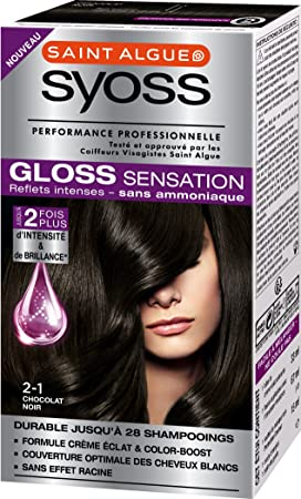 syoss gloss sensation coloration permanente 21 chocolat noir 67 ml - Coloration Gloss Chocolat