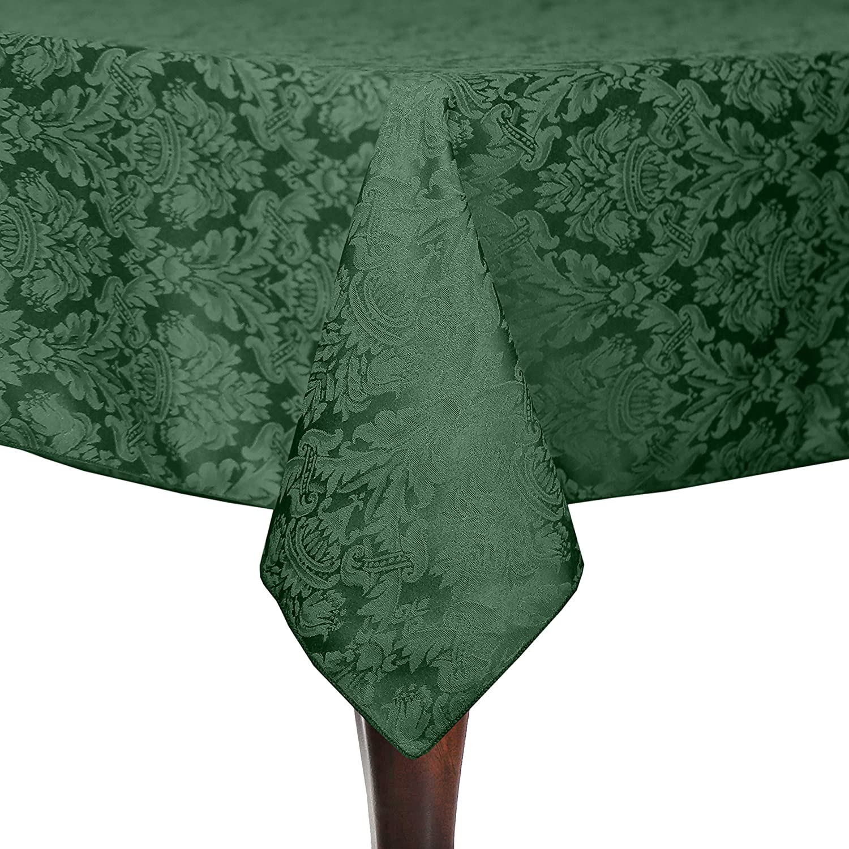 究極Textile Saxony 72 x長方形108インチダマスクテーブルクロス 2 Pack グリーン 2PK9-72X108-141 B0796GP2HS ハンター 2 Pack