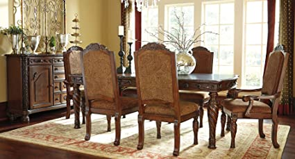 Ashley North Shore Rectangular Dining Room Set   7 Pc. (Fabric)