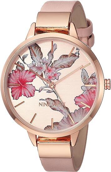 Nine West Women's Floral Dial Strap Watch