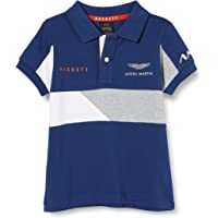 Hackett London Amr Split Pn SS B Camisa Polo para Niños