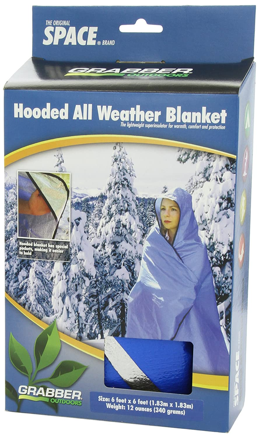 Hooded All Weather Blanket Blue by Grabber