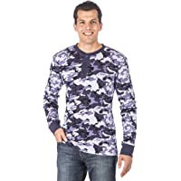 Noble Mount Mens Solid Thermal Henley Long Sleeve T-Shirts