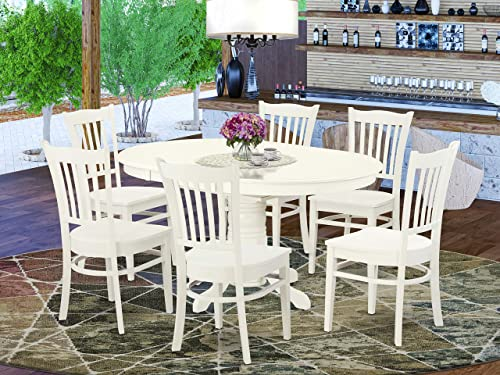 East West Furniture dining room table set 6 Excellent wood chairs