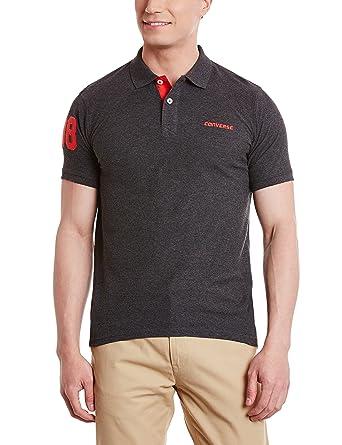 48c26485 Converse Men's Polo Shirt (8907350332558_Core Polo_XX-Large_Anthra Melange)
