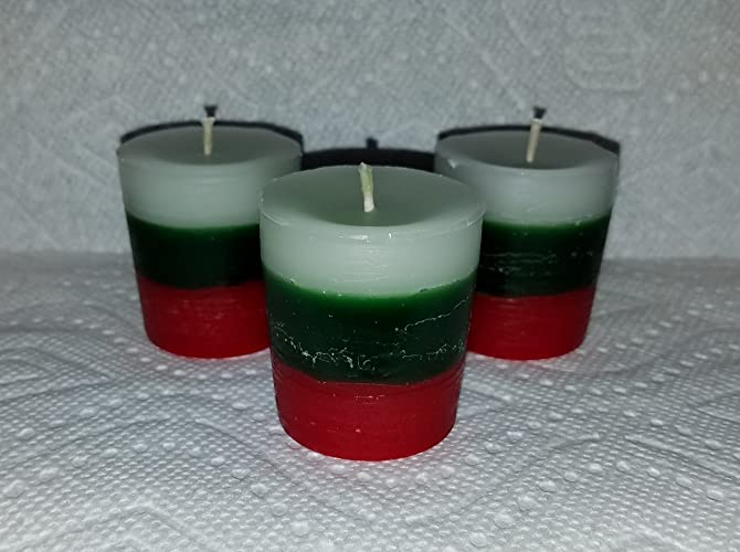 Amazon 6 Candy Cane Votives Christmas Candles Set Of 6 Candy