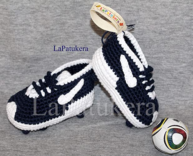 Fußball Schuhe Babyschuhe Häkeln Unisex Aus 100 Baumwolle 4