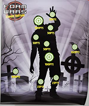 Zombie themed Nerf Target Shooting Target Gallery Game