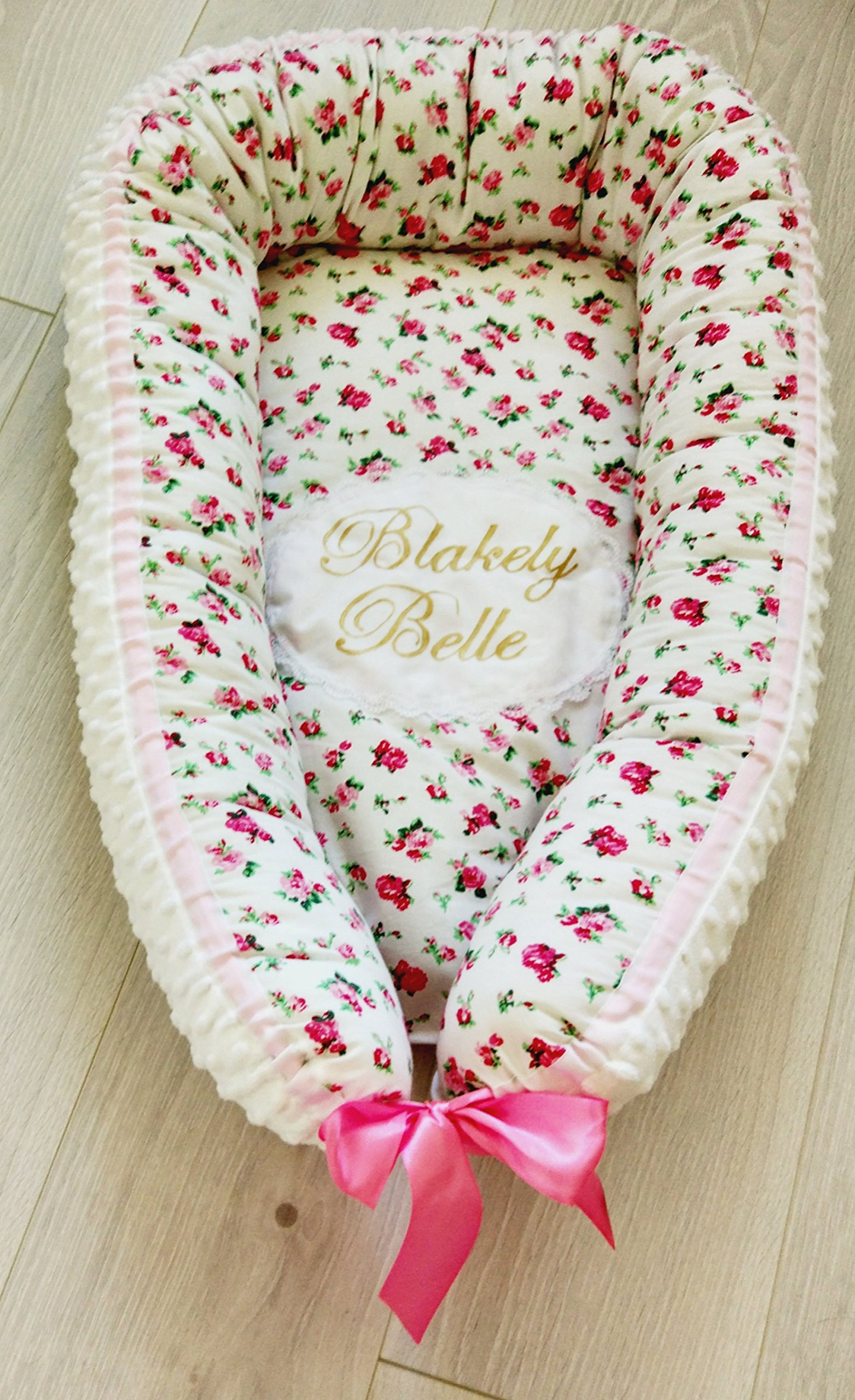 Personilized babynest, personilized baby gift, cocoon, baby cocoon, baby nest bed,crown print,baby bedding,baby shower gift,chevron print,sleeping nest,co sleeper