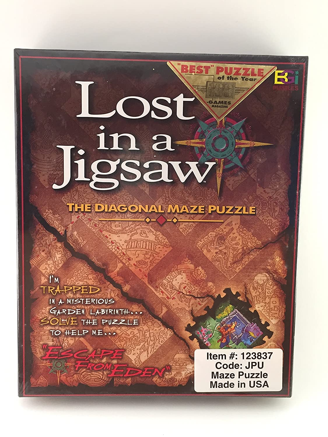 Lost in a Jigsaw: The Diagonal Maze Puzzle by Buffalo Games