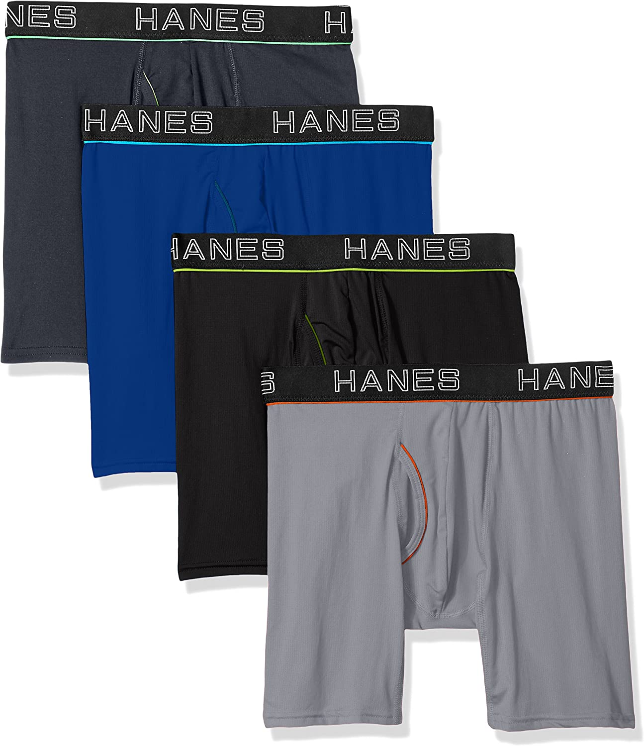 Hanes Ultimate Men's Comfort Flex Fit Ultra Lightweight Mesh Boxer Brief , Assorted Color