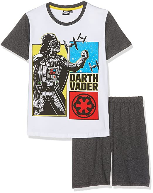 Star Wars-The Clone Wars Darth Vader Jedi Yoda Chicos Pijama mangas cortas - Blanco: Amazon.es: Ropa y accesorios