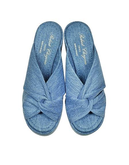 b8403e011f75 Robert Clergerie Femme 3003061132 Bleu Denim Sandales  Amazon.fr   Chaussures et Sacs