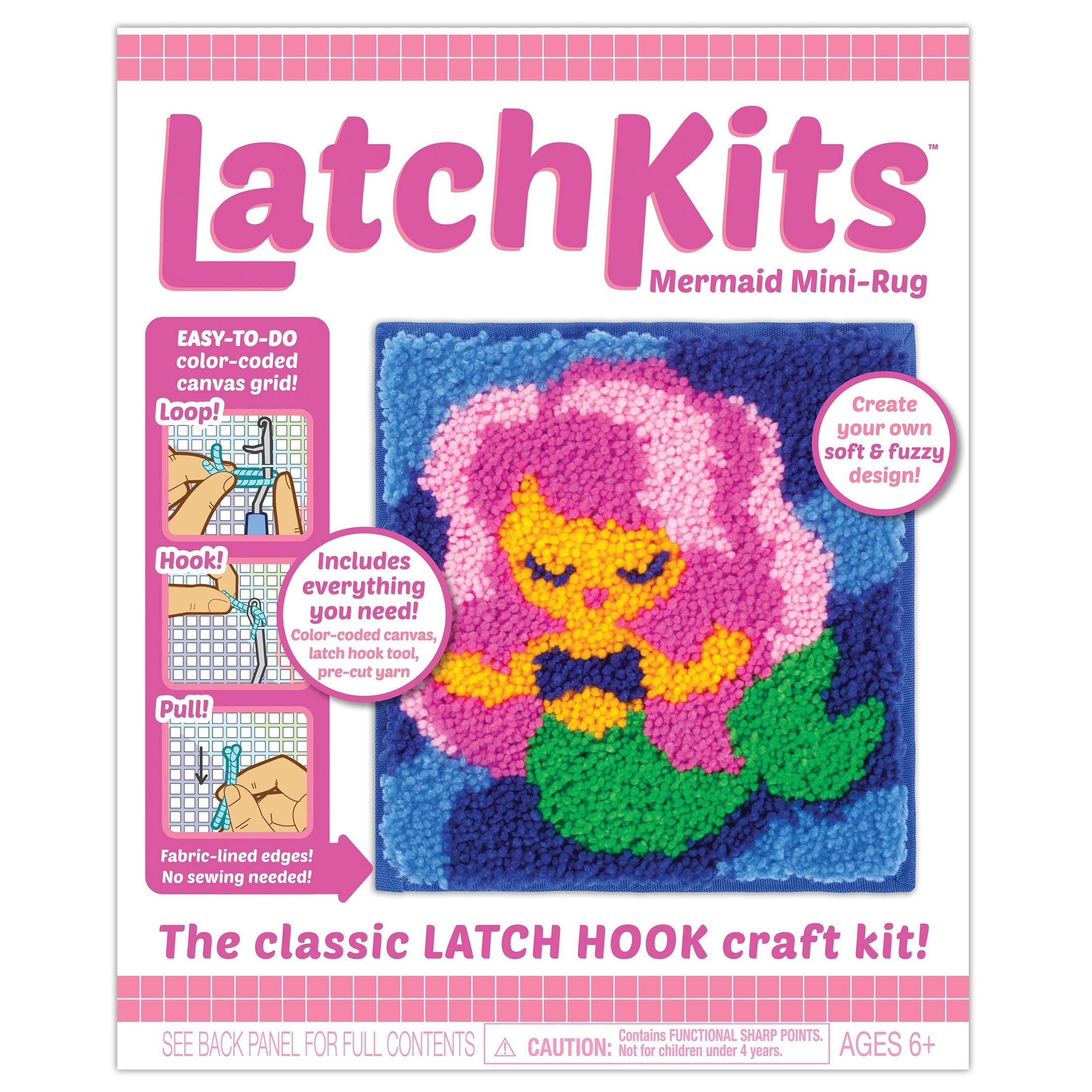 Kahootz Latch Mermaid Mini-Rug Sewing Kit