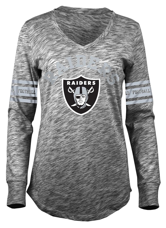 Amazon.com   A-Team Apparel NFL Oakland Raiders Women s Space Dye Long  Sleeve V-Neck Tee b0af6021d
