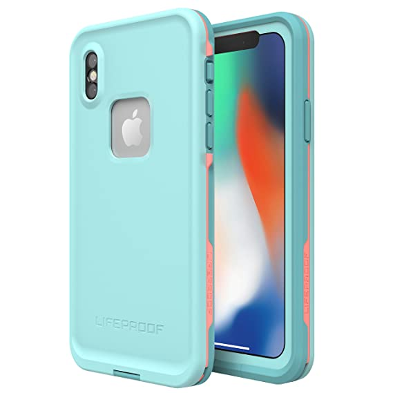huge discount d3c27 e5d7c Lifeproof FRĒ SERIES Waterproof Case for iPhone X (ONLY) - Retail Packaging  - WIPEOUT (BLUE TINT/FUSION CORAL/MANDALAY BAY)