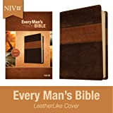 Every Man's Bible NIV, Deluxe Heritage Edition, TuTone (LeatherLike, Brown/Tan) – Study Bible for Men with Study Notes…