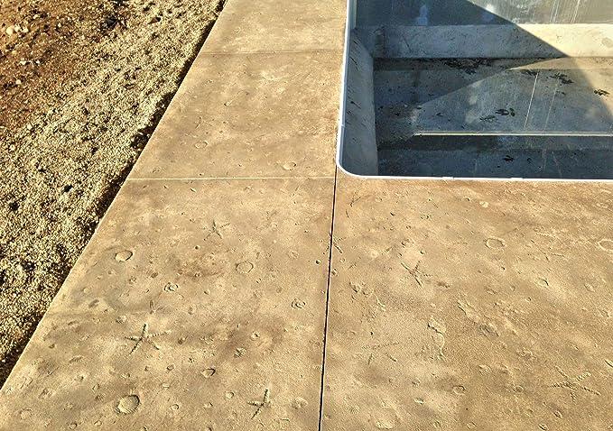 Overlay Concrete Walttools Seamless Concrete Stamp Seascape Ocean Floor Texturing Skin Set Authentic Decorative Pattern Cement 4 piece