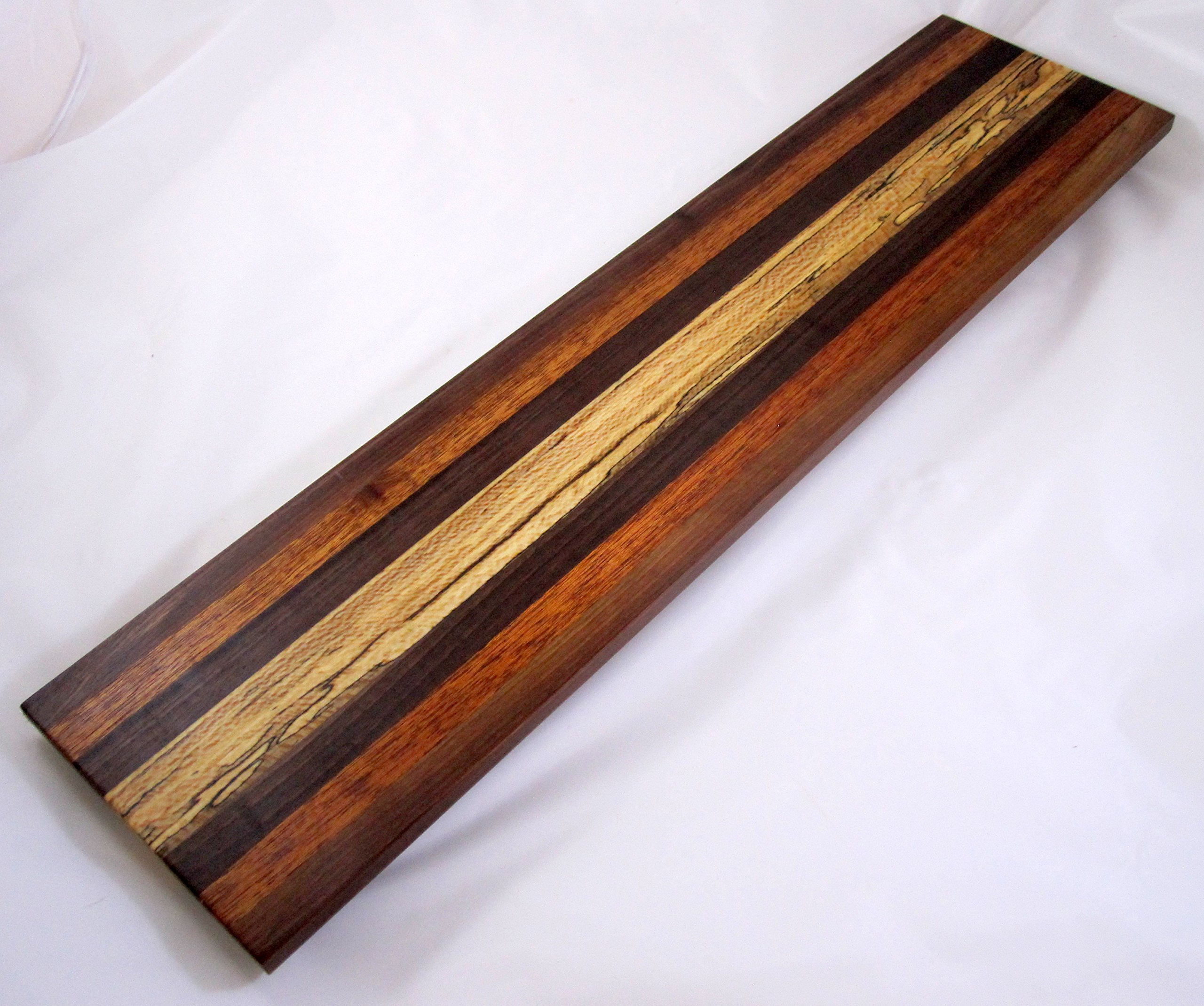Charcuterie cheese long board #A55, Spalted Maple serving piece or cutting board by Sapper Woodworking