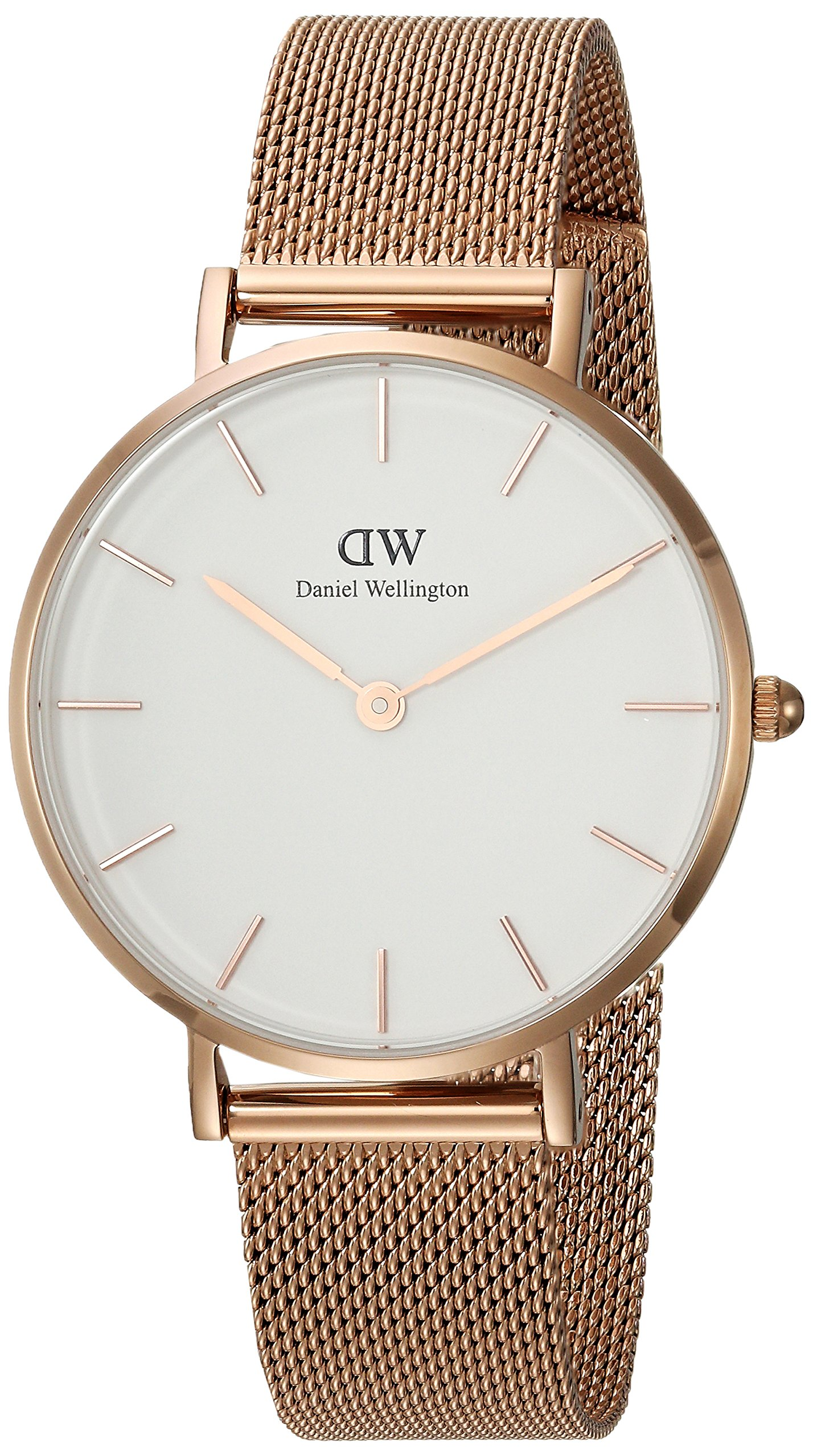 Daniel Wellington Gift Set, Classic Petite Melrose 32mm Watch with Rose Gold Classic Cuff, Color:Rose Gold-Toned (Model: DW00500003)