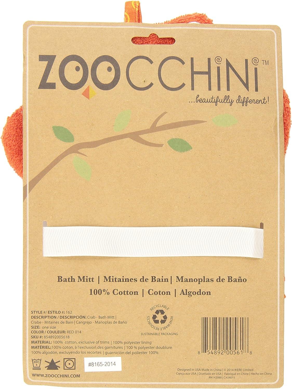 Zoocchini Gant de Toilette Marionnette Motif Charlie Le Crabe