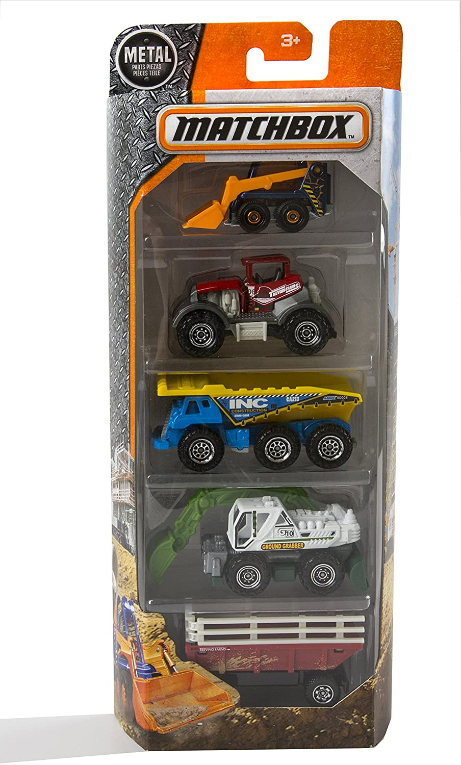 Matchbox 2017 Farm and Construction 5 Pack