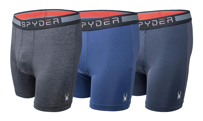 Spyder Men's Boxer Briefs Performance Sports Underwear 3 Pack
