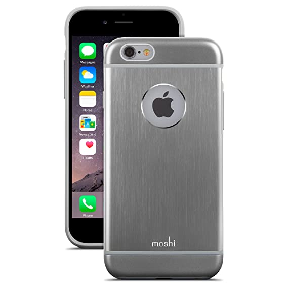 los angeles e07e9 3f9bb Moshi iGlaze Armour Premium Aluminum Case for iPhone 6 (Gunmetal Gray)