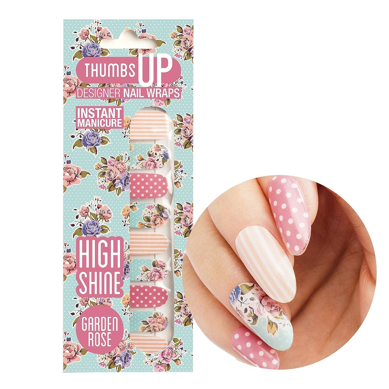47a06c1c7 ThumbsUp Nails Garden Rose Floral Nail Wraps/Self-adhesive/Nail Foil Polish  Strips/Full Coverage Nail Art Stickers / 20 Wraps Per Pack