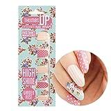 ThumbsUp Nails - Garden Rose Floral Nail Wraps 20 Wraps / Pack