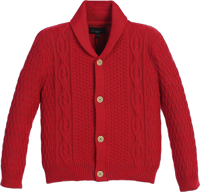 Gioberti Boys Knitted Shawl Collar Cardigan Sweater