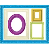 Wallies Wall Decals, Colorful Frames Wall Stickers, Set of 10