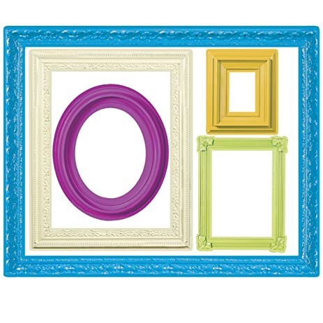 Amazoncom Wallies Wall Decals Colorful Frames Wall Stickers - Wall decals picture frames