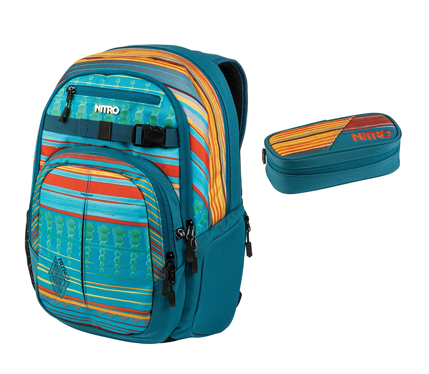 Nitro 1131878014 Schoolbag Set Blue Canyon PC   B07BN697XK
