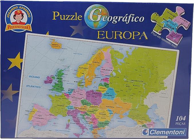 Clementoni – 104 piezas puzzle – Mapa de Europa: Amazon.es: Juguetes y juegos