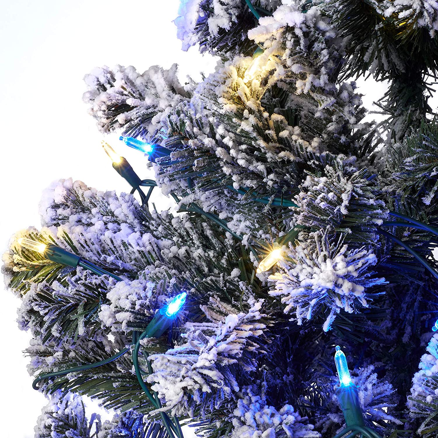 16.3FT Blue Warm White Aurio Outdoor//Indoor Christmas Lights 50-Count HM5 LED Bulbs