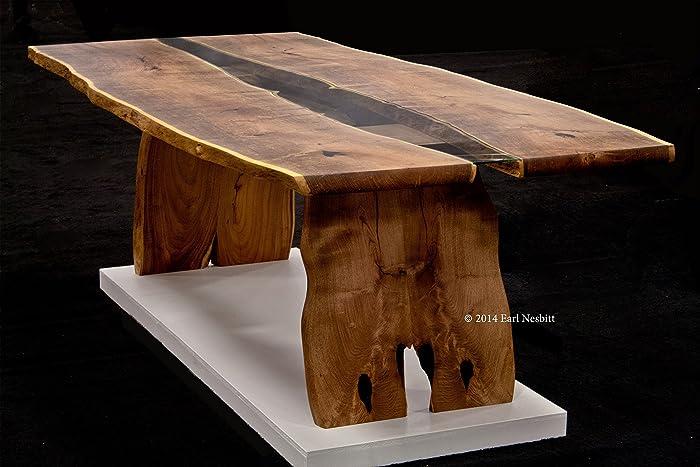 Amazoncom Wood Slab Dining Table Handmade
