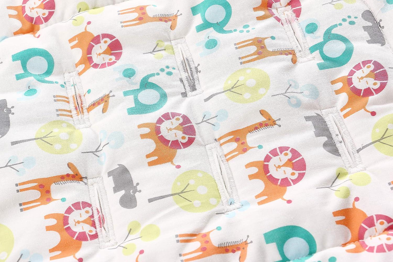 Weich und Reversible Baby reine Baumwolle Kinderwagen Autositz Liner Pram Insert Portable Wickelauflage Grau Universal Cover Kinderwagen Gr/ö/ße 32x80 cm Kissen f/ür Kinder