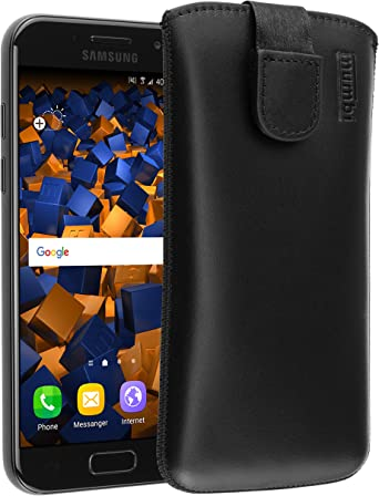 Mumbi Echt Ledertasche Kompatibel Mit Samsung Galaxy A3 2017 Hülle Leder Tasche Case Wallet Schwarz Elektronik
