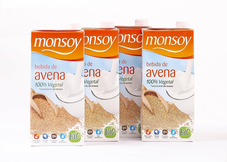 MONSOY Bebida de Avena Ecologica 1L [caja de 4 x 1L]: Amazon.es: Alimentación y bebidas