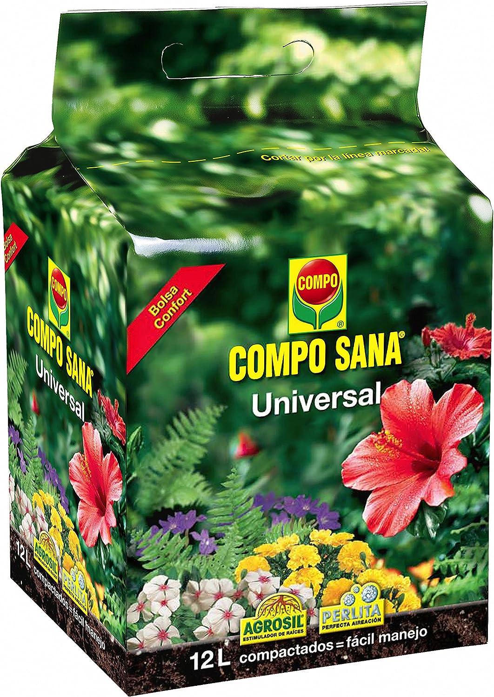 Compo Calidad para macetas con 12 semanas de abono para Plantas de Interior, terraza y jardín, Substrato de Cultivo, 12 litros, 12 l