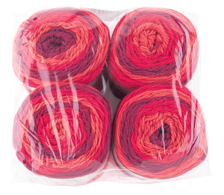 Ventaja Pack 4/ Gr/ündl 3582/ /02/Lolly Pop Ovillo de 150/g//–/Hilo para Tejer, 100/% Poliacr/ílico, Blueberry Swirl, 24/x 24/x 10/cm
