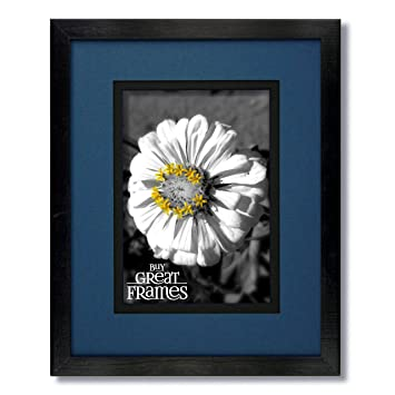 Amazoncom One 11x14 Black Wood Frame And Glass With Regal Blue
