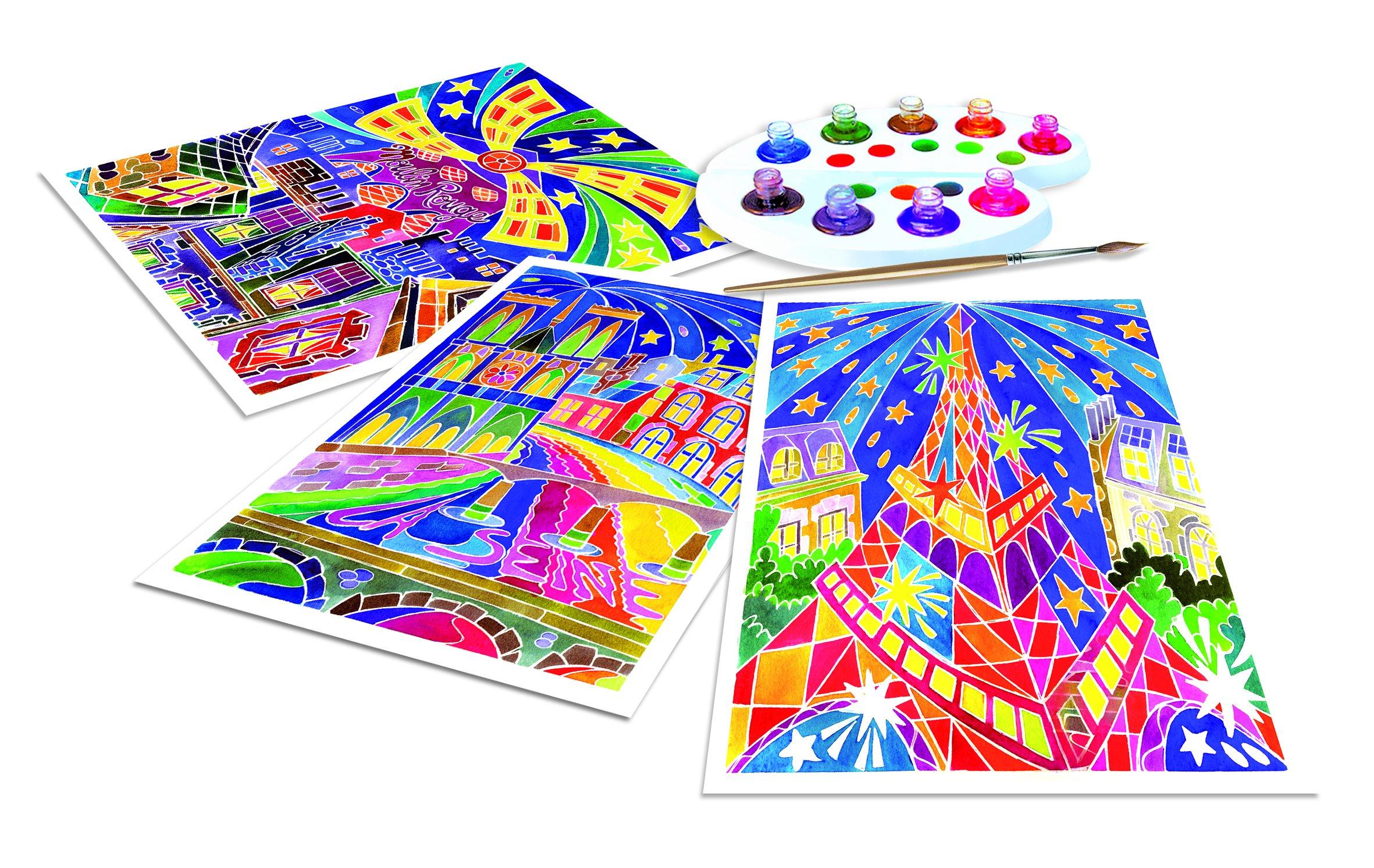 SentoSphere Aquarellum - Paris by Night - Arts and Crafts Watercolor Paint Set