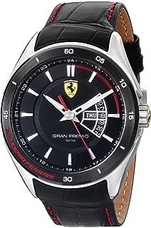 Ferrari Mens 0830183 Gran Premio Analog Display Quartz Black Watch